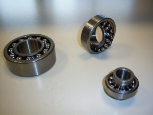 Self-aligning ball bearings.