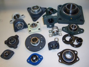Housings with ball bearings inserts.