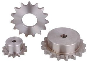 Sprockets, gears and ball screws